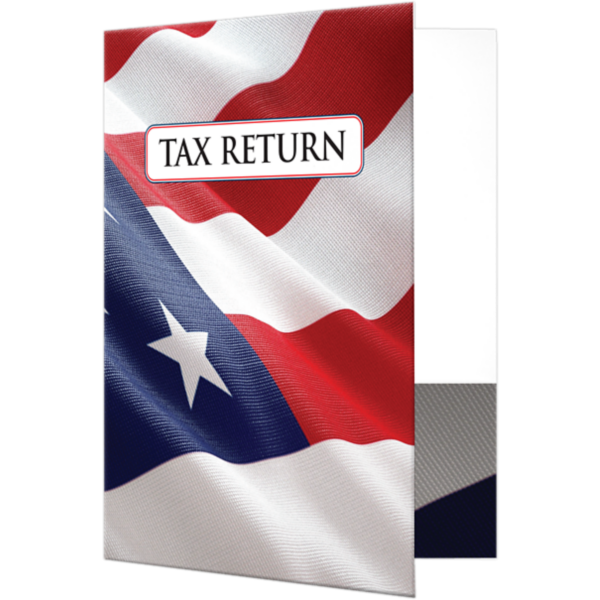 9 x 12 Presentation Folders - Patriotic Flag Patriotic