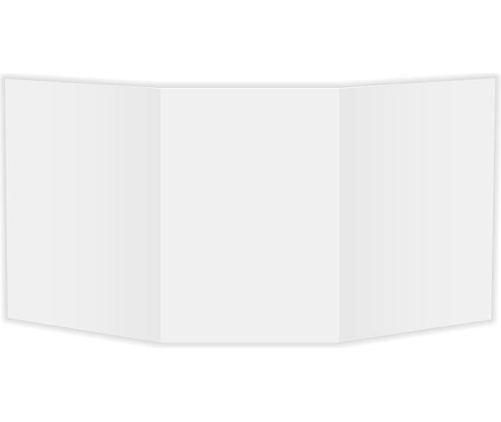 X  Tri Fold Card Lb Lb White Matte  EnvelopesCom