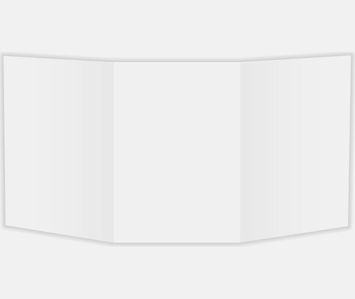 4 1/4 x 6 Tri Fold Card 100lb. 100lb. White Matte | Envelopes.com