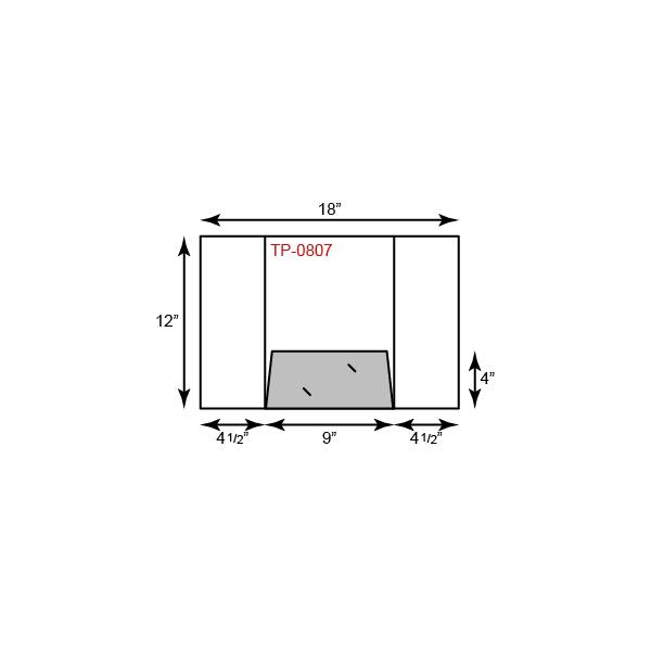 """9"""" x 12"""" Presentation Folders - French Tripanel w/ One Pocket (Center)"""