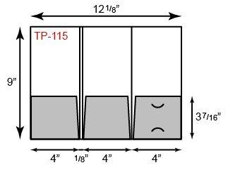 3 Pockets Tripanel Small