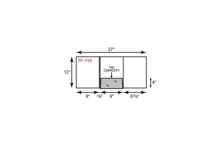 1 Center Pocket Tripanel