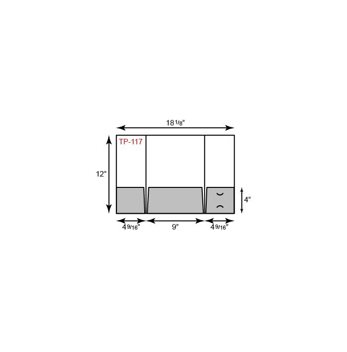 "9"" x 12"" Presentation Folders - French Three Pocket Tripanel"