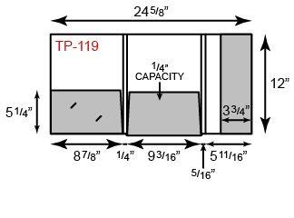"9 3/16"" x 12"" Presentation Folders - Three Pocket Tripanel w/ One Vertical Pocket"