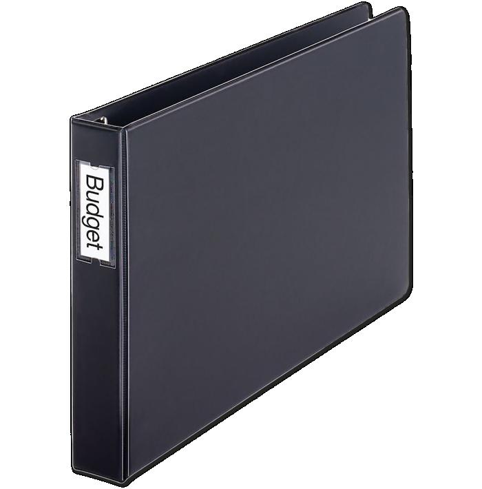 """1.5"""" Easy Open Locking Slant-D Ring Binder w/ Spine Label Holder Black"""