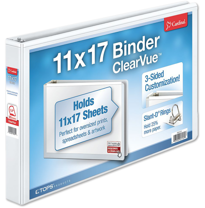 "1.5"" Non-Locking Slant-D Ring Binder White"