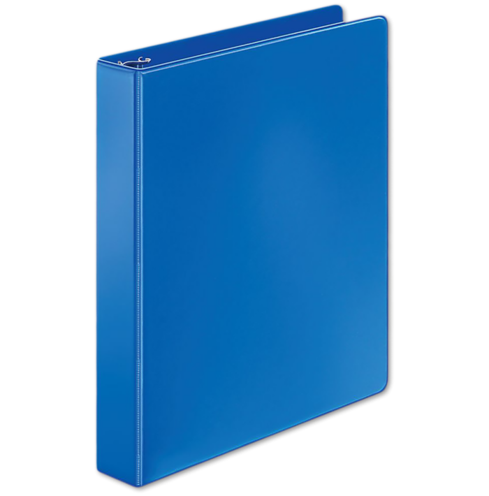 "1"" Non-Locking Round Ring Binder Blue"