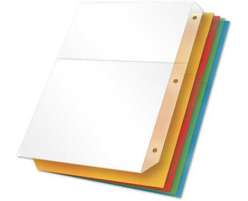 Poly Ring Binder Pockets (No Tabs) Assorted