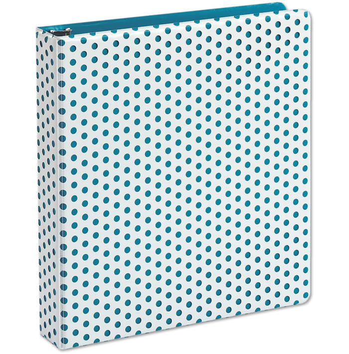"1.5"" Oxford Punch Pop Round Ring Binder (350 Sheet Capacity) Teal"