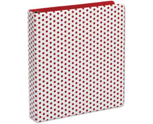 "1.5"" Oxford Punch Pop Round Ring Binder (350 Sheet Capacity) Berry"
