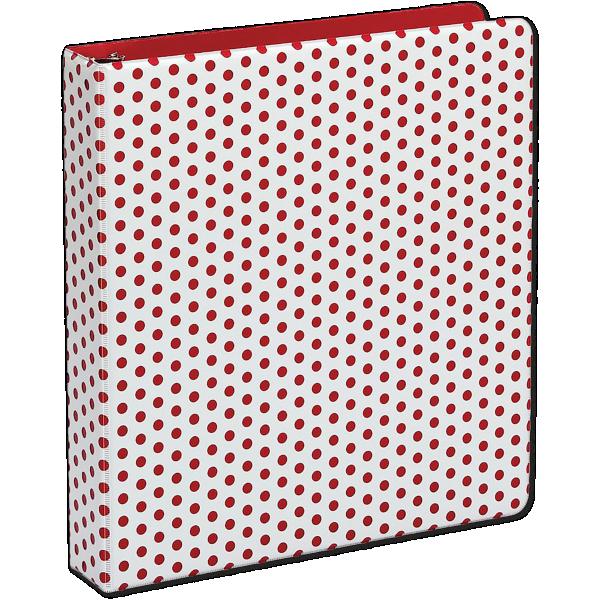 "1.5"" Oxford Punch Pop Round Ring Binder (350 Sheet Capacity) Berry"