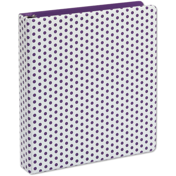 "1.5"" Oxford Punch Pop Round Ring Binder (350 Sheet Capacity) Purple"