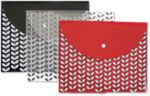 Letter Size Poly Snap Envelope - Charcoal Assorted