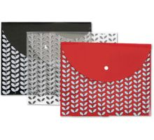 Letter Size Poly Snap Envelope (Pack of 3) - Assorted