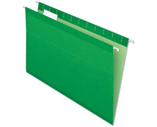 Legal Size Pendaflex Reinforced (1/5 Cut) Hanging Folders (Pack of 25) Green