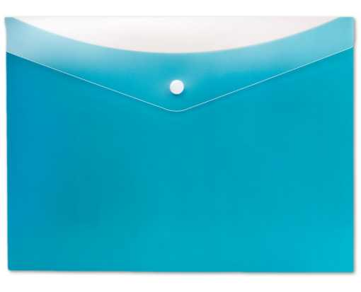 Letter Size Poly Snap Envelope - Blueberry Blueberry