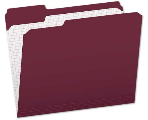 Pendaflex Letter Size (1/3 Cut) File Folders w/Interior Grid(Pack of 100) Burgundy