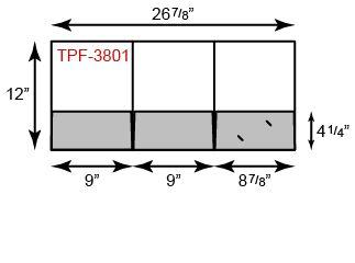 "9"" x 12"" Presentation Folders - Three Pocket Tripanel"