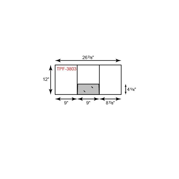 """9"""" x 12"""" Presentation Folders - Tripanel w/ One Pocket (Center)"""