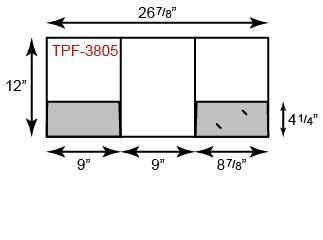 "9"" x 12"" Presentation Folders - Center Tripanel w/ Two Pockets"