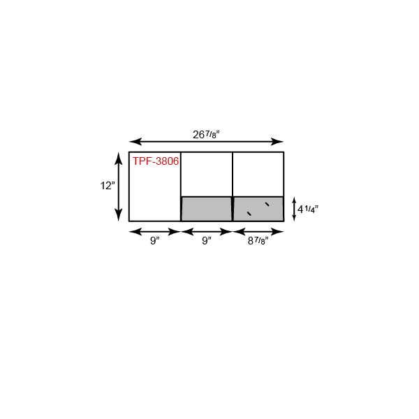 "9"" x 12"" Presentation Folders - Left Tripanel w/ Two Pockets"