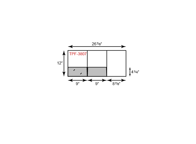 "9"" x 12"" Presentation Folders - Right Tripanel w/ Two Pockets"