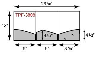 "9"" x 12"" Presentation Folders - Three Pocket Tripanel w/ Curved Pockets"