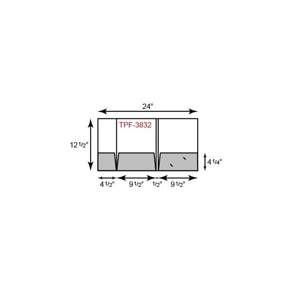 "9.5"" x 12.5 Presentation Folders - Three Pocket Tripanel w/ Small Left Panel"