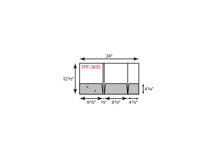 "9.5"" x 12.5 Presentation Folders - Three Pocket Tripanel w/ Small Right Panel"