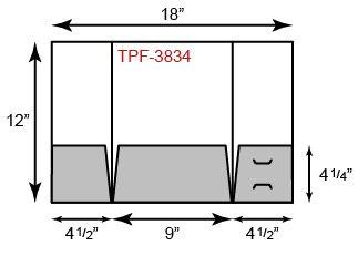 3 Pocket Gate fold Tripanel
