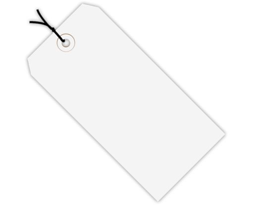 2 3/4 x 1 3/8 Pre-Strung Gift Tags White
