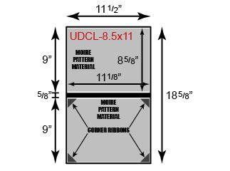 "Unpadded Diploma Cover - 8 1/2"" x 11"" Size w/ Landscape Orientation"