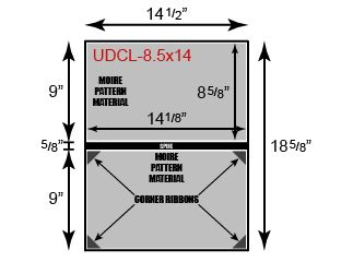 "Unpadded Diploma Cover - 8 1/2"" x 14"" Size w/ Landscape Orientation"