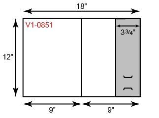 "9"" x 12"" Presentation Folders - One Vertical Pocket (Right)"