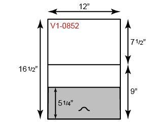 "9"" x 12"" Presentation Folders - Vertical Orientation w/ One Pocket (Bottom) & Tuck Tab"
