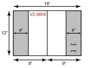 "9"" x 12"" Presentation Folders - Two Vertical Pockets"