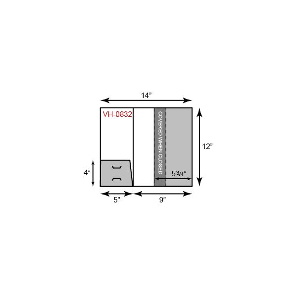 1 Small Horizontal and 1 Vertical Pocket
