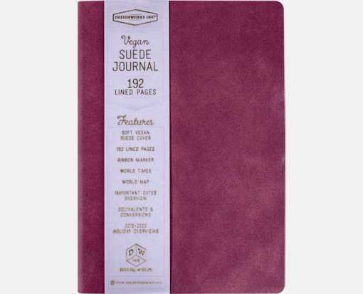 VEGAN SUEDE JOURNALS Burgundy