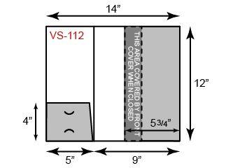 "9"" x 12"" Presentation Folder - One Small Pocket and One Vertical Pocket"
