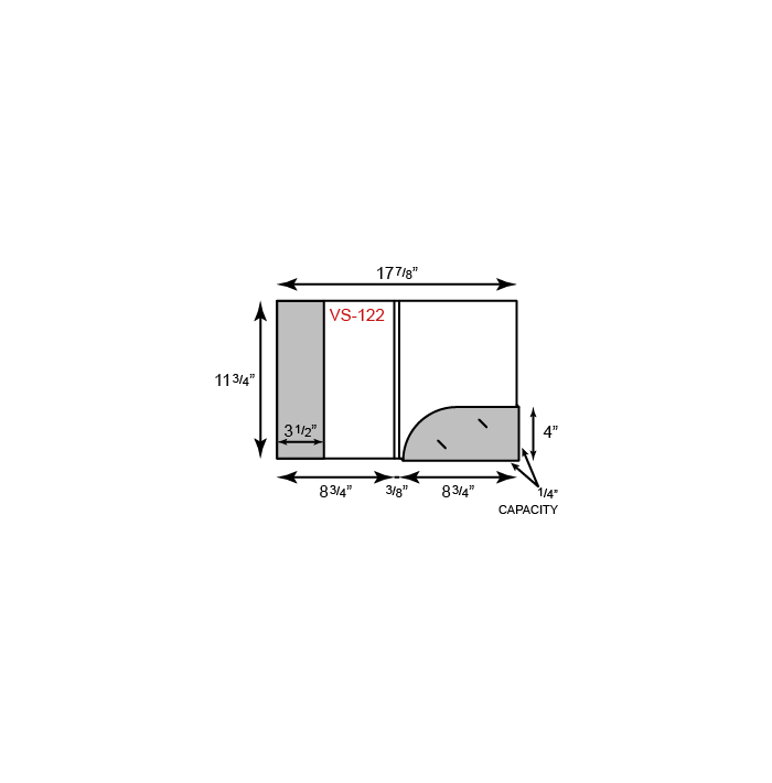 "8.75"" x 11.75"" Presentation Folder - One Vertical Pocket and One Round Box Pocket"