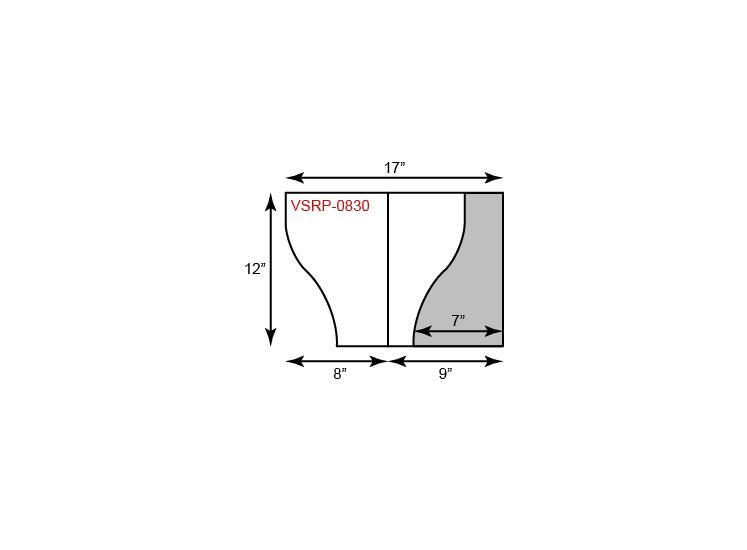 "9"" x 12"" Presentation Folders - Serpentine Cut w/ One Vertical Pocket (Right)"