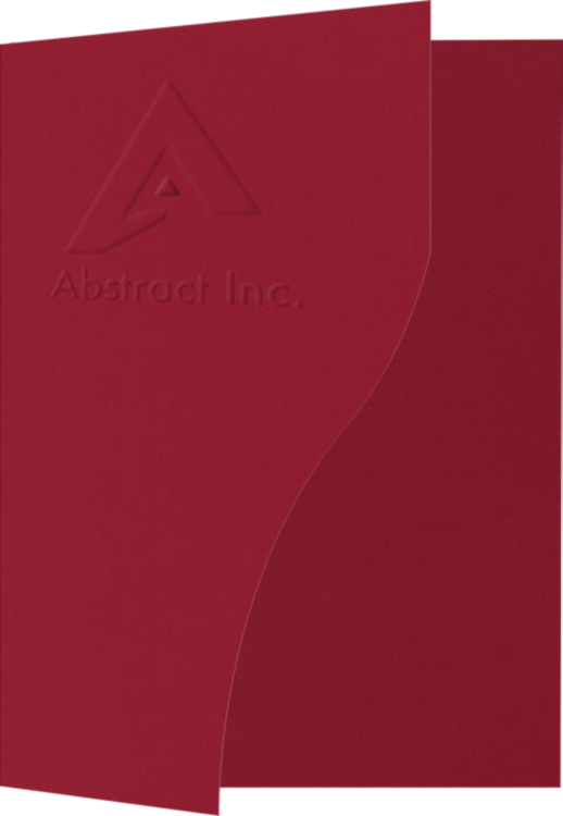 "9"" x 12"" Presentation Folders - Serpentine Cut w/ One Vertical Pocket (Right)"