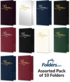 Welcome Folders - Standard Two Pockets - Assorted Pack of 10