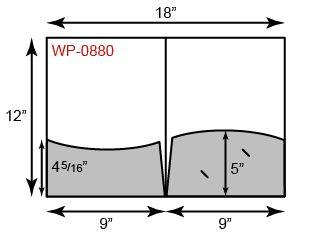 9 x 12 Presentation Folders - Wavy Pockets
