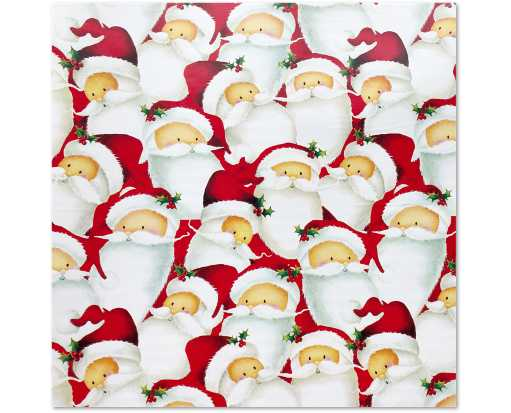 Jumbo Roll (10 x 30) Wrapping Paper Santa