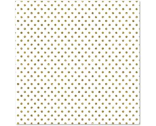 Large Roll (5 x 30) Wrapping Paper Gold Dots on White