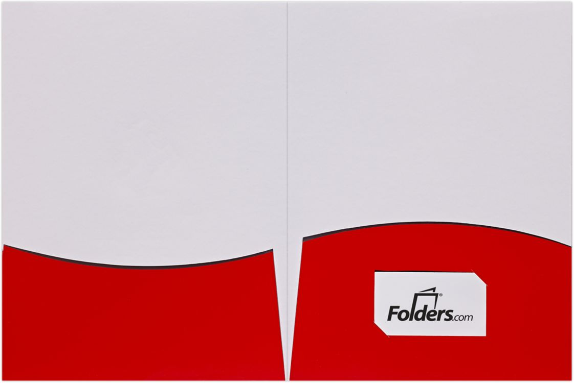 9 x 12 Presentation Folders - Wavy Pockets
