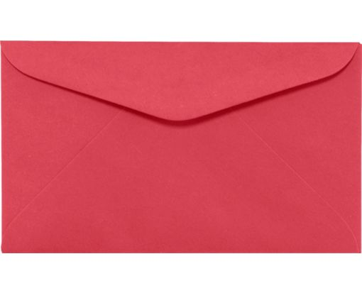 #6 1/4 Regular Envelopes (3 1/2 x 6) Holiday Red