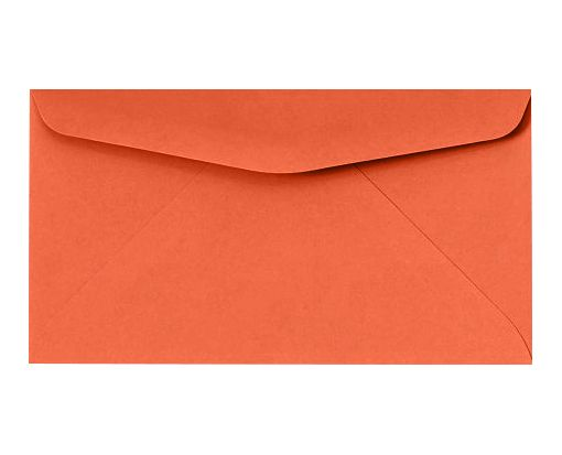#6 3/4 Regular Envelopes (3 5/8 x 6 1/2) Bright Orange