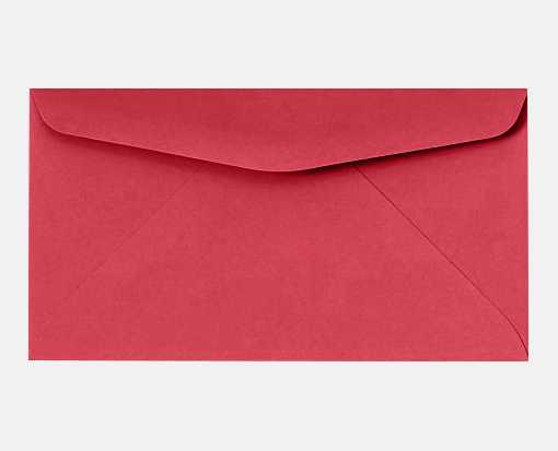 #6 3/4 Regular Envelopes (3 5/8 x 6 1/2) Holiday Red